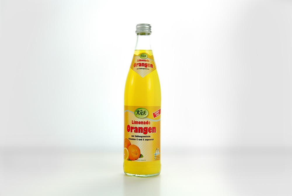 Kick Orangen Limonade mit Süßungsmitteln – Kick-Getränke