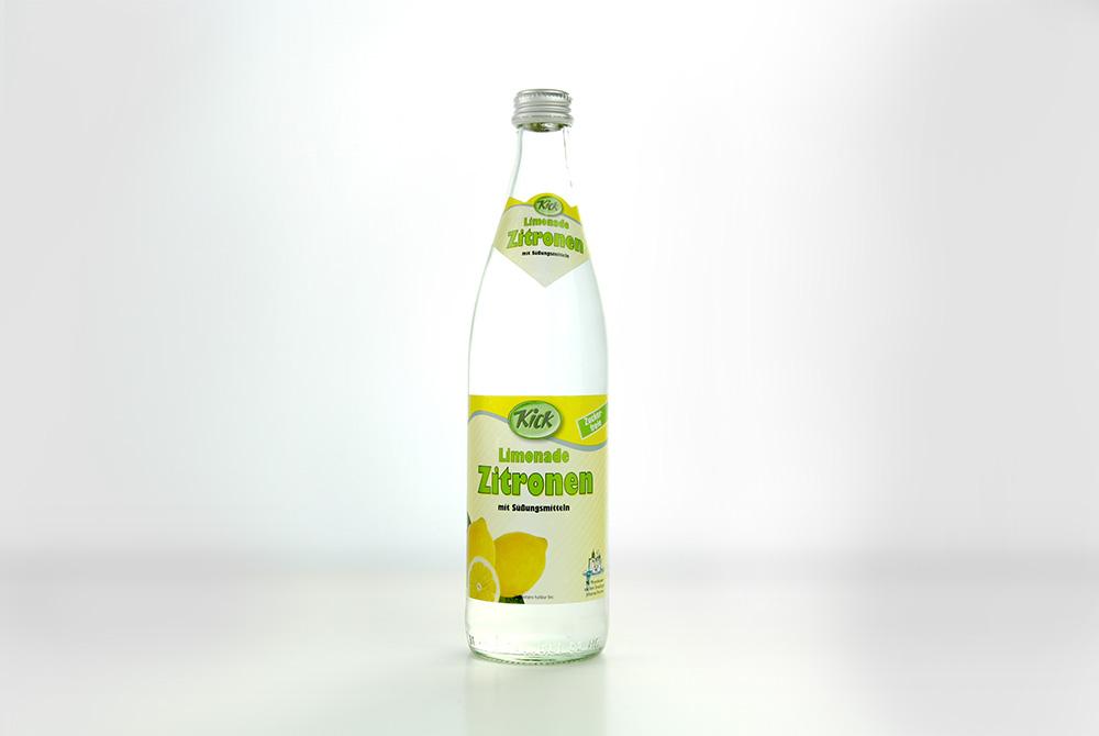 Kick Zitronen Limonade mit Süßungsmitteln – Kick-Getränke